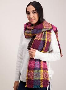 Multicoloured Woven Check Scarf