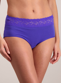 Multicoloured Comfort Lace Midi Knickers 5 Pack