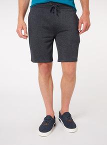 Navy Striped Jersey Shorts