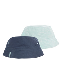 Multicoloured Beachcomber Bucket Hats 2 Pack (1 - 12 years)