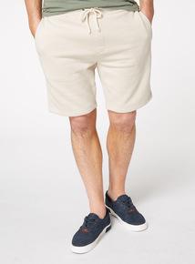 Stone Plain Sweat Shorts