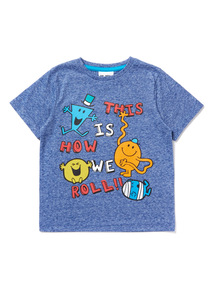Blue Mr. Men 'This is How We Roll' Slogan T-Shirt (9 months-6 years)