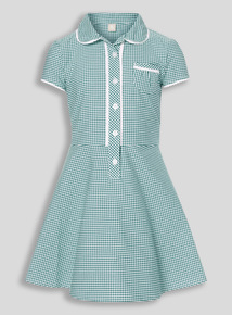 Online Exclusive Green Plus Fit Gingham Dress (3-12 years)
