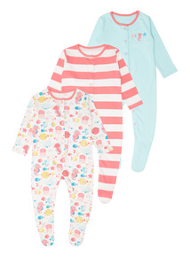 Under The Sea Sleepsuits 3 Pack (0 - 24 months)
