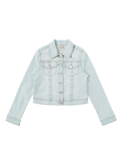 206761387 Kids Girls Light Wash Denim Jacket (3-12 years) | Tu clothing