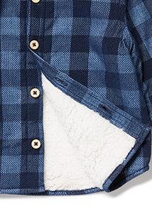 Blue Checked Shirtigan (0-24 months)