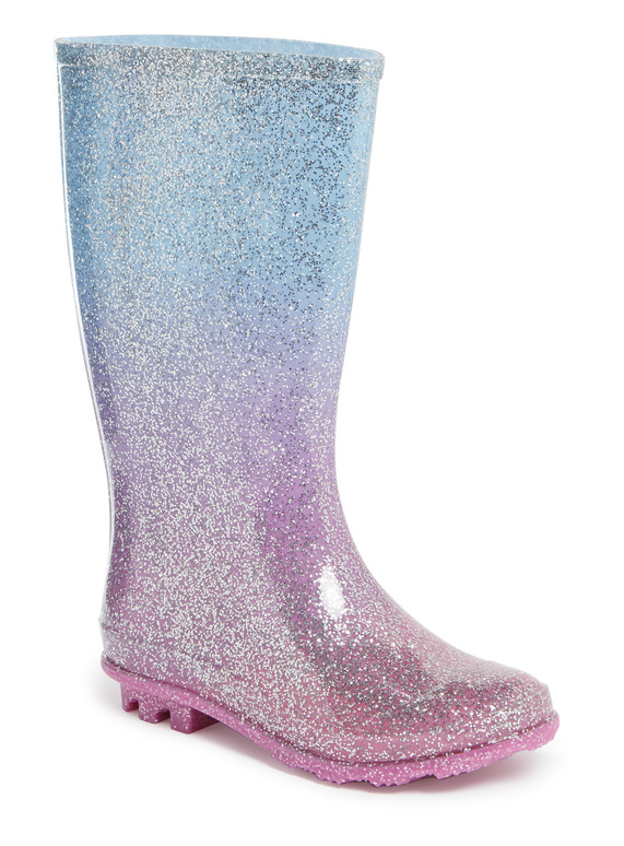 b8d400b08780 Kids Multicoloured Ombre Glitter Wellies (10 Infant-4) | Tu clothing