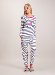Multicoloured Striped Pug Pyjama Set
