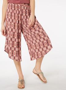Printed Crinkle Culottes