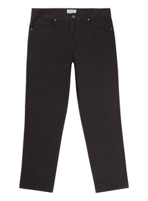 Black Canvas Straight Leg Trousers