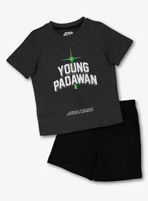 1114eb412 Star Wars Mini Me Grey & Black Pyjamas 2 Pack (3-12 Years)
