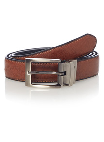 Tan & Black Reversible Belt