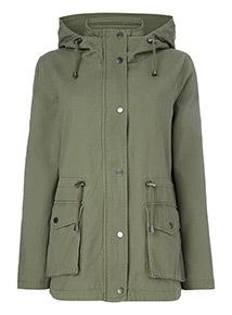 Khaki Hooded Jacket