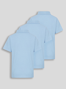Unisex Blue Polo Shirts 3 Pack (2-12 years)