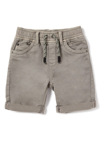 Grey Washed Loopback Shorts (3-14 years)