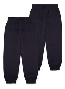 Unisex Navy Joggers 2 Pack (3-12 Years)