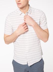 Stone Striped Linen Rich Shirt