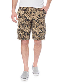 Black Washed Pattern Cargo Shorts