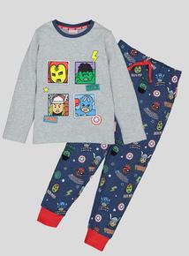 Disney Marvel Avengers 3D Flap Long-Sleeved Pyjamas (18 Months - 8 Years)