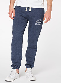 Navy Cuffed Joggers