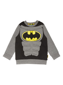 Kids Black Batman Padded Sweatshirt (9 Months - 5 Years)