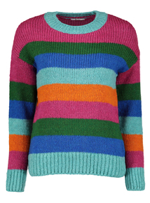 Multicoloured Stripe Knitted Jumper