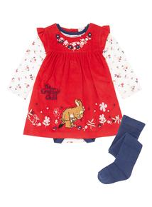 Girls Red Gruffalo Dress (0-24 months)