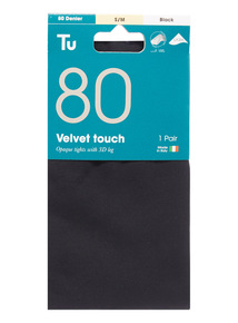 Black 80 Denier Velvet Touch Tights