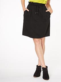 Black Tencel Skirt