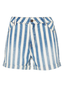Sailor Stripe Denim Shorts