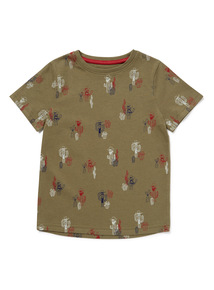 Multicoloured Cactus Print T-Shirt (3-14 years)