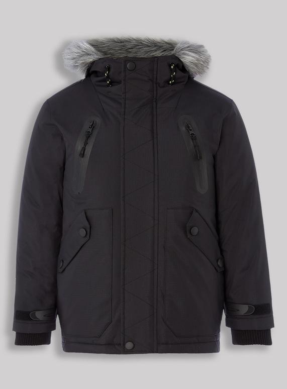 4cfae533b Kids Black Premium Performance Parka Jacket (3-14 years)