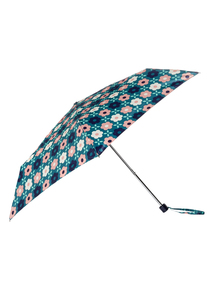 Blue Geometric Floral Umbrella