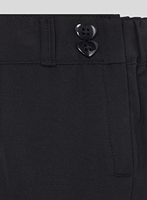 Girls Black Woven Trouser 2 Pack (3-12 years)