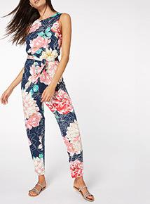 Multicoloured Floral Jumpsuit