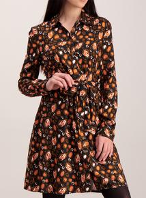 Online Exclusive Multicoloured Leopard Print Shirt Dress