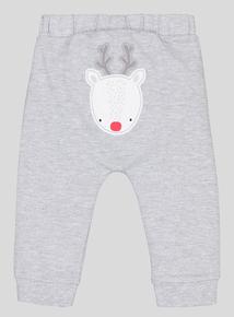 Christmas ''Oh Deer' Slogan 2 Piece Set (0-24 Months)