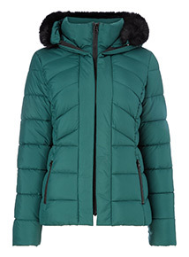 Online Exclusive Green Padded Coat