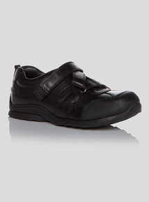 Boys Black Leather School Shoes