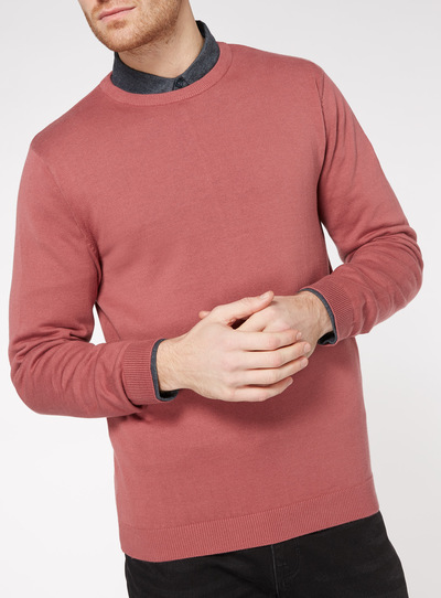 Raspberry Pink Crew Neck Jumper