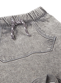 Grey Loopback Shorts (0-24 months)