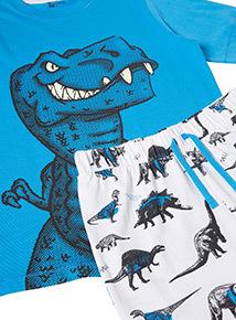 2 Pack Multicoloured Dinosaur Pyjamas (1-12 years)
