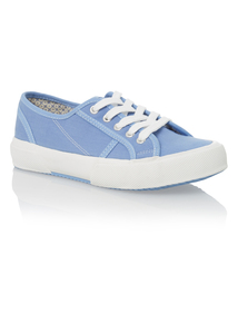 Blue Chunky Sole Canvas Shoes