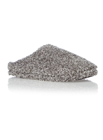 Grey Towelling Mule Slippers