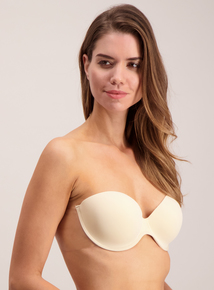 Online Exclusive Nude Stick On Strapless Winged Bra