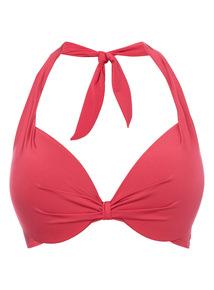 Red Gok Padded Plunge Bikini Top