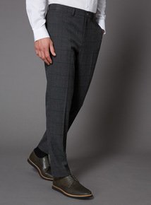 Grey Pow Burgundy Stripe Slim Fit Trouser
