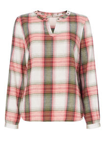 Multicoloured Check Blouse