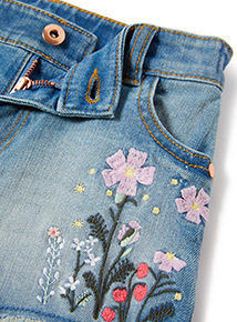 Denim Embroidered Shorts (3-14 years)