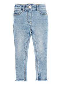 Denim Acid Wash High Waist Skinny Jeans (3-12 years)